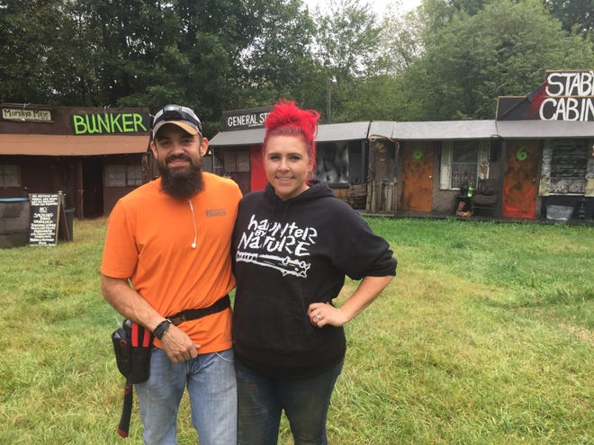 Byron and Marie Butler, new operators of Terrorfied Forest in Putnam Township added new buildings and revamped others at the large, outdoor haunt, shown Thursday, Sept. 12, 2019.