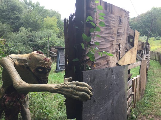 A zombie maze is a new feature at the Terrorfied Forest haunt in Putnam Township, shown Thursday, Sept. 12, 2019.