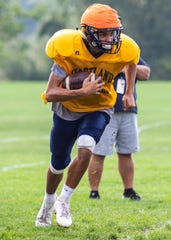 Sophomore Brad Sollom is 7-for-18 for 88 yards as Hartland's backup quarterback through two games.