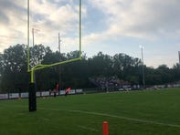 Football field with goal post
