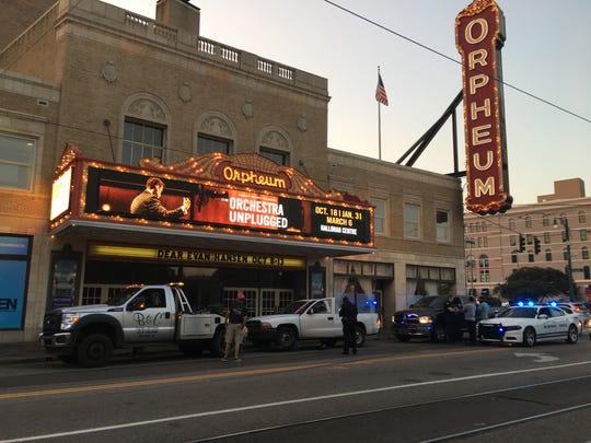 Wednesday, September 11, 2019. A tow truck driver prepares to remove the truck that Willie Ingram was driving when a Memphis police officer stopped him in front of the Orpheum theater in Downtown Memphis. A police affidavit says that Ingram refused to hand over documents, and that the confrontation escalated to the point that an officer punched him in the face and another officer later pepper-sprayed him.