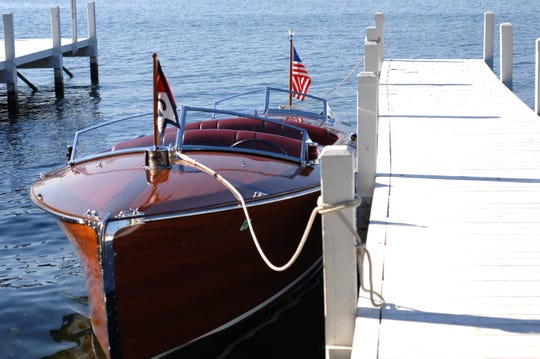 A Saturday boat parade is just one element of the Geneva Lakes Antique & Classic Boat Show that visitors can enjoy.