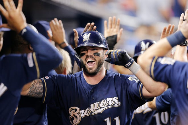 Mike Moustakas signed with the Brewers for one year and $11 million last February after not getting much action on the free-agent market.