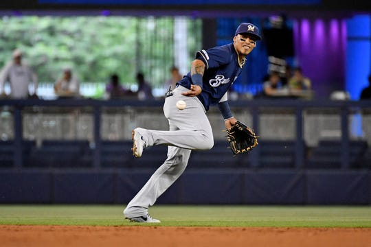 Shortstop Orlando signed a $2.2 million deal with the Brewers to avoid arbitration.