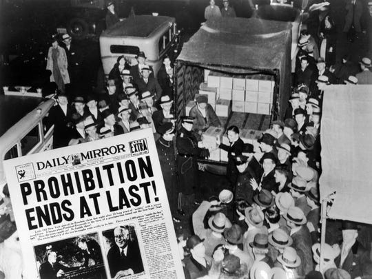 """A headline in the Daily Mirror: """"Prohibition Ends at Last."""""""