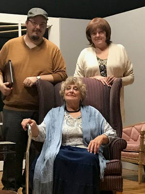 'My Old Lady' is the latest production at the Twin Lakes Playhouse in Mountain Home. Pictured are cast members Mike Horburg (from left), Sue Howe and Cindy Young.