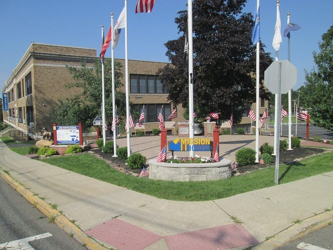 The BHS Mission Honor Veteran Project memorial near the high school entrance.