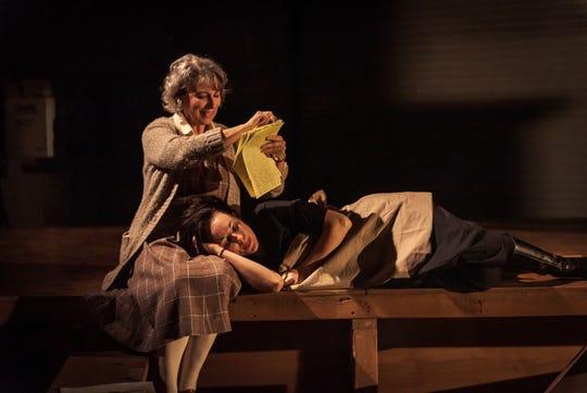 "Greta Lambert and Elizabeth A. Davis in a scene from ""Buzz"" at Alabama Shakespeare Festival."