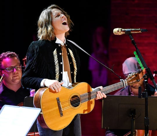 Brandi Carlile  performs at the Americana Music Honors & Awards Wednesday, Sept. 11, 2019 at the Ryman Auditorium in Nashville, Tenn.