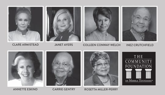 Community Foundation of Middle Tennessee will honor these women activists and philanthropists.