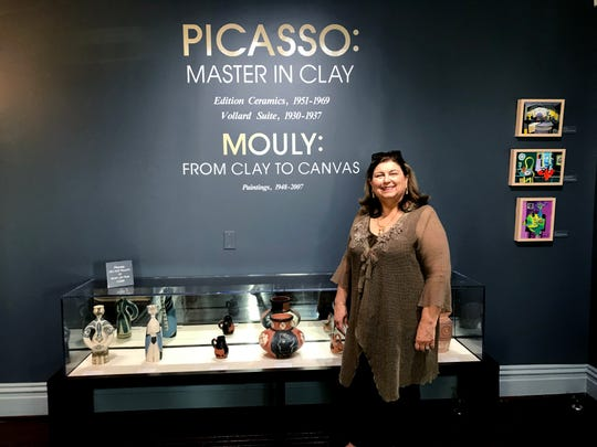 """Monthaven Arts and Cultural Center Director Cheryl Strichik says the """"Picasso: Master in Clay"""" exhibit is a """"once in a lifetime show."""""""