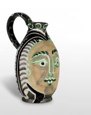 """""""Femme du Barbu"""" (Bearded Man's Wife), 1953, one of the Picasso ceramic works on exhibition at Monthaven."""