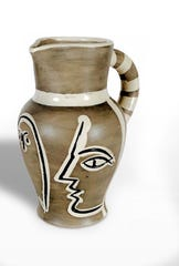 """Pablo Picasso, """"Grave Gris"""" (Grey Engraved Pitcher), 1954. Picasso was relatively late in life and already internationally famous when he began working in ceramics, but designed thousands of pieces."""
