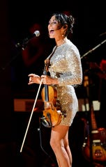 Amanda Shires performs at the Americana Music Honors & Awards on Sept. 11, 2019, at the Ryman Auditorium in Nashville.