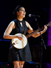 Rhiannon Giddens performs at the Americana Music Honors & Awards Wednesday.