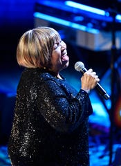 Mavis Staples performs at the Americana Music Honors & Awards Wednesday, Sept. 11, 2019 at the Ryman Auditorium in Nashville, Tenn.