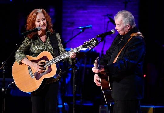 Bonnie Raitt and John Prine perform at the Americana Music Honors & Awards.