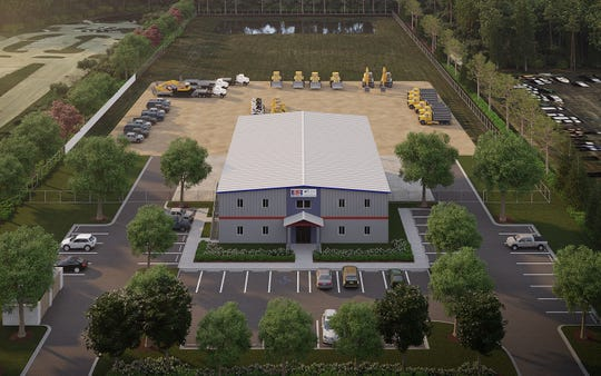 Rendering of new Fort Myers campus for EHC, which is leaving its Naples headquarters.