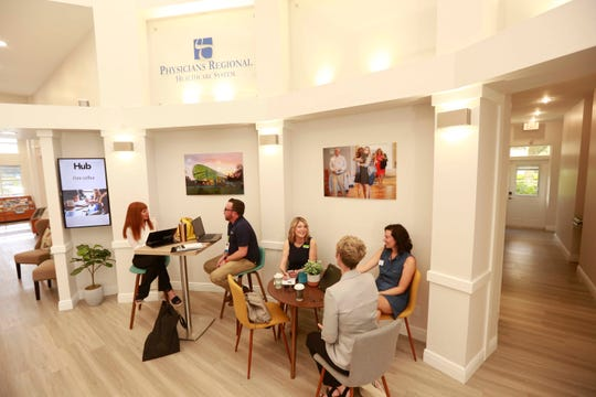 Members of the Bonita Springs Area Chamber of Commerce use The Hub for meetings or a work space outside their home or office.