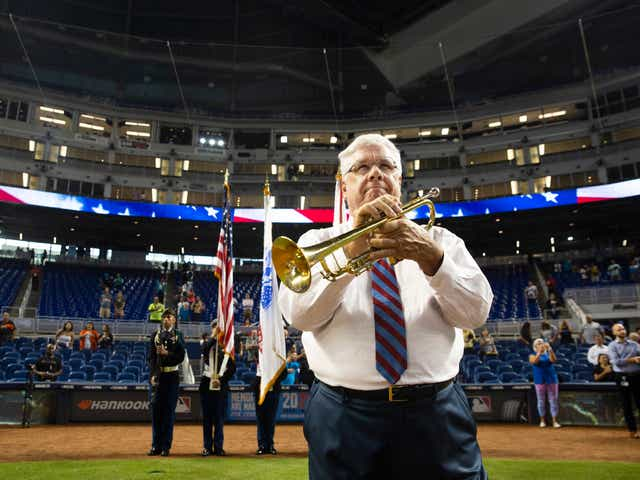 Florida man plans to make MLB history — using 53-year-old trumpet