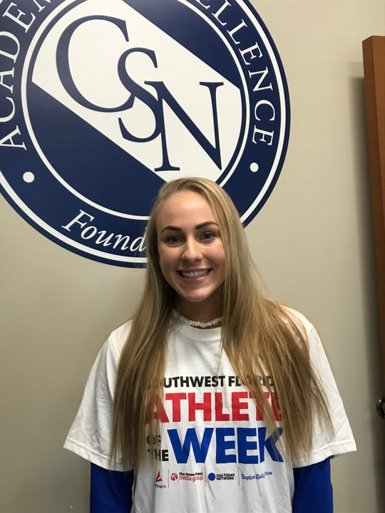 Community School of Naples volleyball player Elly Beshears, Athlete of the Week for Sept. 2-7, 2019.