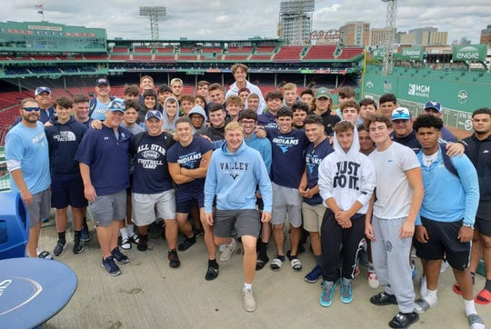 Wayne Valley's football team visited Fenway Park in Boston during its trip to play Andover (Mass.).