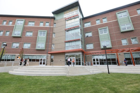 Skyline Hall, a dorm with a view of New York City, officially opened at a ribbon-cutting ceremony at William Paterson University in Wayne on Sept. 12.