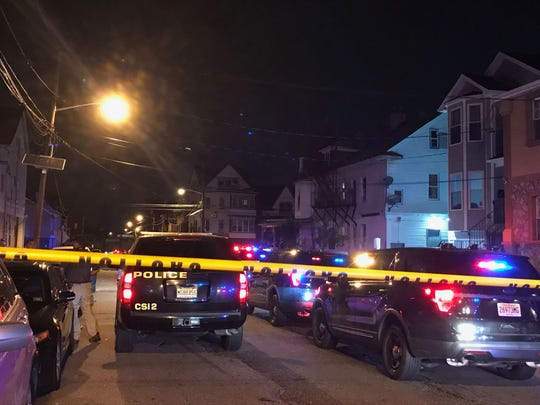 Police respond to a shooting on East 19th Street in Paterson Sept. 11, 2019.