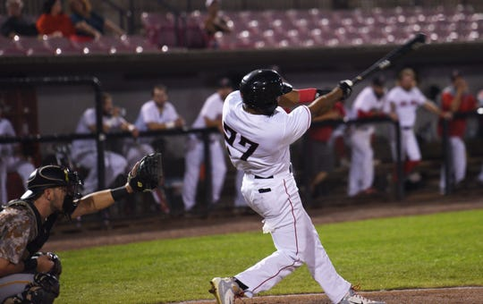 The New Jersey Jackals and Sussex County Miners are playing in the Can Am League championship series.New Jersey Jackals # 27 Alfredo Marte