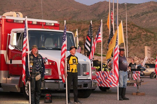 Alamogordo remembered the Sept. 11 attacks with a solemn parade and memorial at the New Mexico Museum of Space History  September 11, 2019.