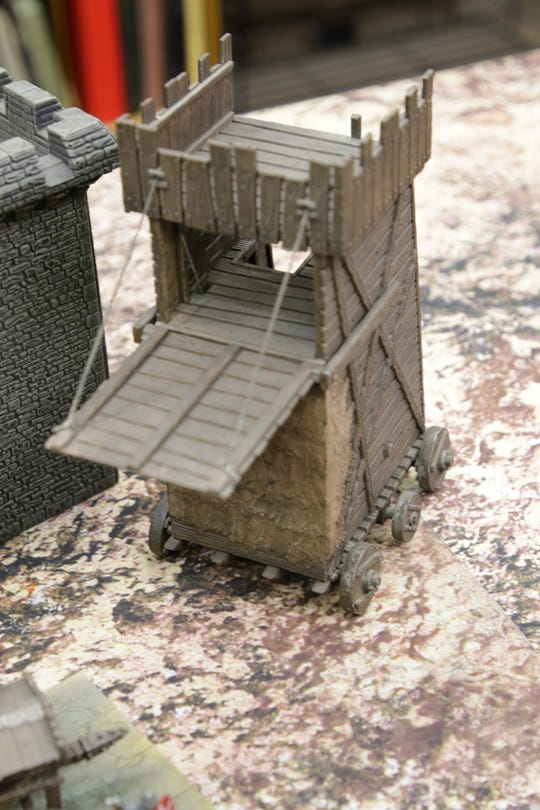 "A siege tower is just one of the medieval war-making devices that can be deployed in ""Banners and Billhooks."""