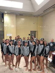 The South Lyon East girls swim and dive team started off the LVC season with a win.