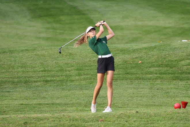 Groves varsity girls golf team member Chloe Collon has found success early on in the 2019 season.