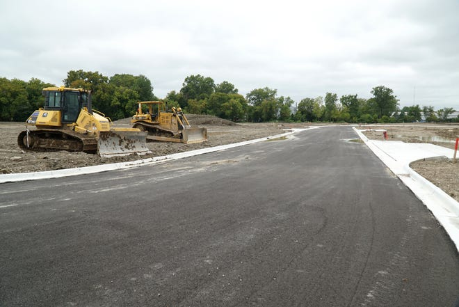 Major road and utility work is finished at the Adell Center in Novi on Sept. 12, 2019. Some tennants, like Texas Roadhouse and Planet Fitness have begun building their facilities at the center at Novi Road and I-96.