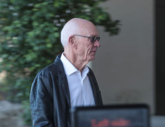 John Wessman enters the Larson Justice Center in Indio, Sept. 12, 2019.