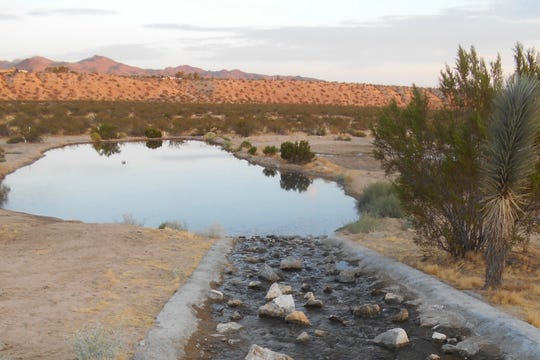 The Ames - Reche Recharge facility delivers water from the State Water Project directly to the Pipes Wash in Landers, located north of Yucca Valley.
