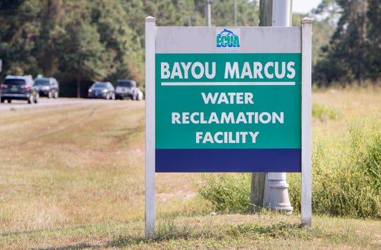 ECUA's Bayou Marcus water reclamation facility in Pensacola on Thursday, September 12, 2019.