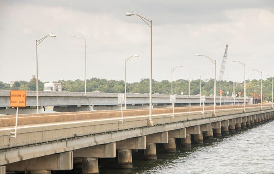 Traffic moves along the first span of the new Pensacola Bay Bridge earlier this month. The $417 million project is expected to be the most expensive infrastructure project in Northwest Florida history.