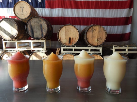 Cider Corps has three slushie machines but customers can mix and match many combinations.