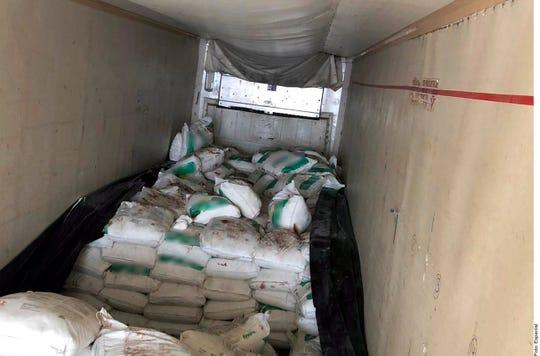 La droga sintética estaba oculta en un cargamento de fertilizante.