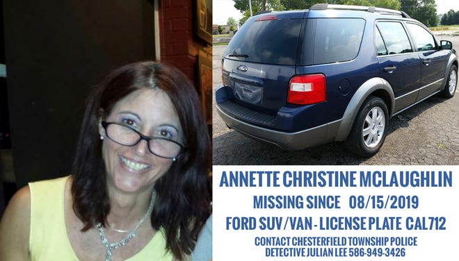 Annette McLaughlin was reported missing Aug. 15.