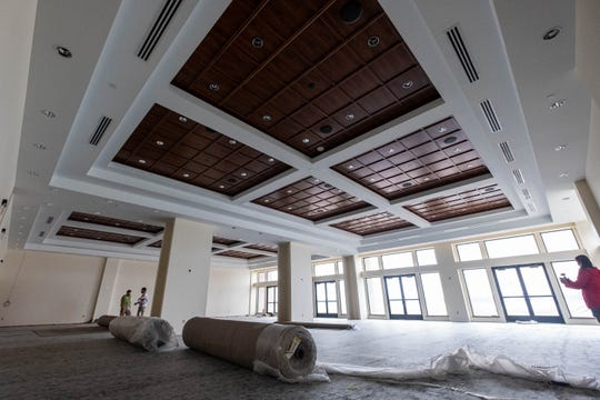 Construction is progressing on the ballroom at the St. Clair Inn. The first event to be held in the space is scheduled for the end of the month.