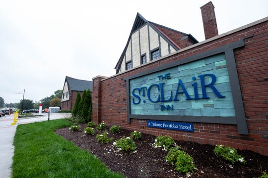 Construction is nearing completion on the St. Clair Inn. The hotel will start hosting events at the end of this month.