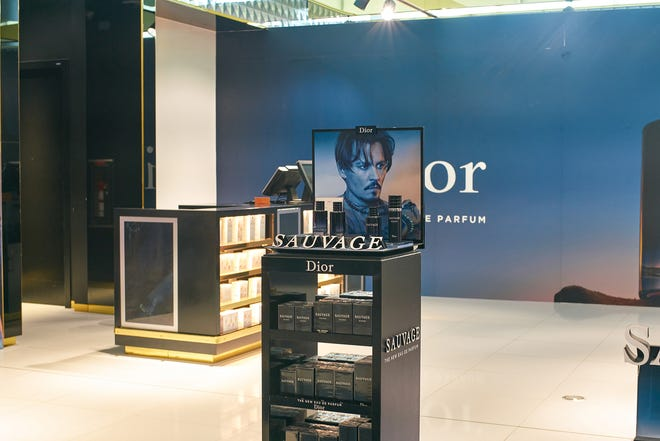 A perfume display at Dubai International Airport. (Dreamstime/TNS)