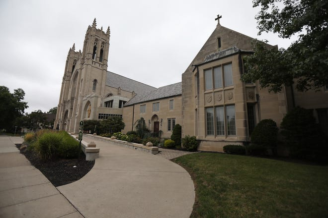 Sacred Heart Cathedral is located on Flower City Park