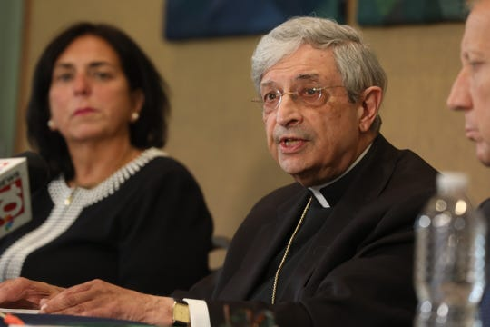 The Roman Catholic Diocese of Rochester filed for bankruptcy on Sept. 12, 2019.  The Diocese held a press conference talking about why they did that.  Bishop Salvatore R. Matano read from a prepared statement before answering questions with Lisa Passero CFO for the diocese, and Stephen Donato, with the law firm, Bond, Schoeneck, and King that is representing the diocese in the bankruptcy, beside him.