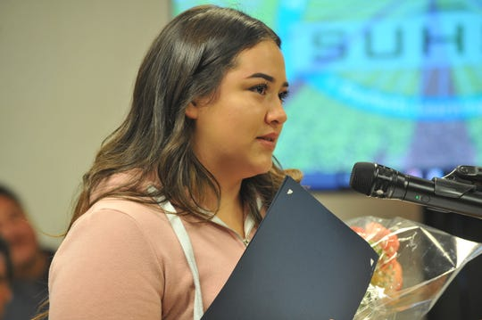 Celeste Colantro, 17, was recognized at the Salinas Union High School District on Sept. 10, 2019.