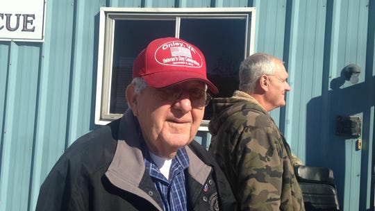 Former Mayor John Willis Kellam of Onley attends the  town's Veterans Day parade in 2014. Kellam died Wednesday, Sept. 11, 2019.