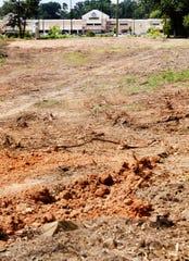 Construction on Ellerbe Road.