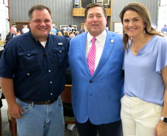 State Sen. Ryan Gatti,Lt. Gov. Billy Nungesser and Susan Gatt at fund raiser for Foster Children program.